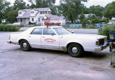 BENSENVILLE FD  CAR 72  1975  FORD LTD