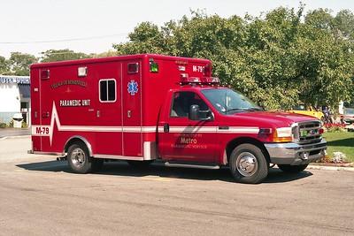 BENSENVILLE FD  MEDIC 79  1999  FORD F-350 - HORTON