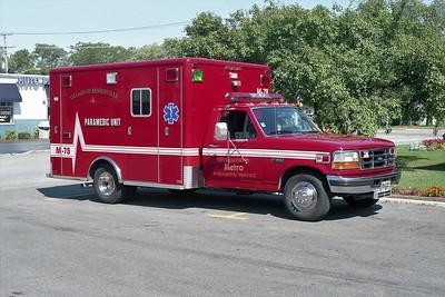 BENSENVILLE FD  MEDIC 78  1997  FORD F-350 - HORTON