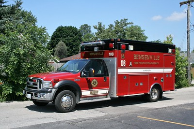 BENSENVILLE FPD  MEDIC 108  2012  FORD F-450 - WHEELED COACH   #311206