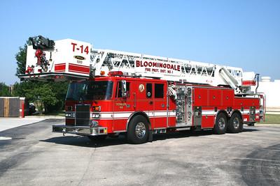 BLOOMINGDALE FPD  TOWER 14  1997  PIERCE LANCE   2000-0-100' PAP   EA-770