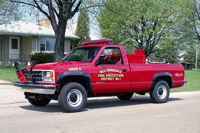 BLOOMINGDALE FPD  SQUAD 6  1989  CHEVY - DARLEY   150-200