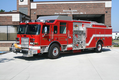 BLOOMINGDALE FPD  ENGINE 2  2007  PIERCE ENFORCER   2000-750-30F   #18651