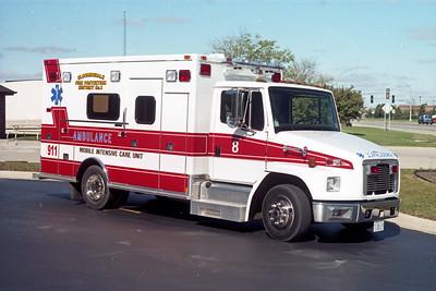 BLOOMINGDALE FPD  SQUAD 8  1997  IHC 4700 - MEDTEC