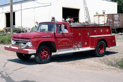 BLOOMINGDALE FPD  RESCUE 3  1961  FORD F - PIRSCH   250-150
