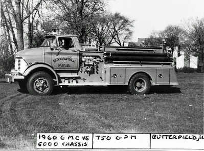 BUTTERFIELD FPD ENGINE 1960 GMC - DARLEY   DAN MARTIN PHOTO
