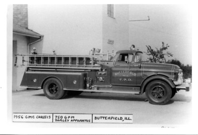 BUTTERFIELD FPD  ENGINE  1956  GMC - DARLEY   750-   DAN MARTIN PHOTO