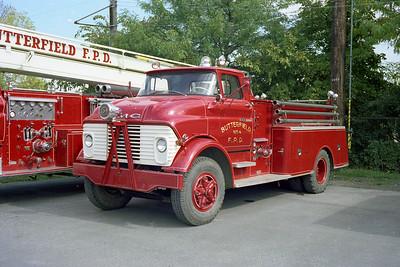 BUTTERFIELD FPD ENGINE 1960 4  GMC - DARLEY   750-    DAN MARTIN PHOTO
