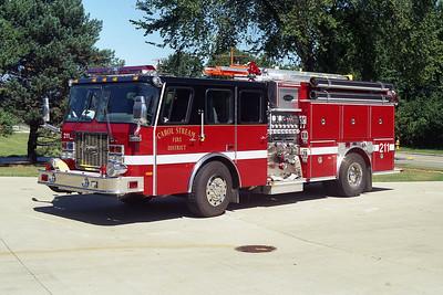 CAROL STREAM FPD  ENGINE 211  E-ONE