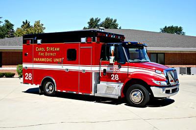CAROL STREAM MEDIC 28  2011 IHC 4300-MEDTEC  BF