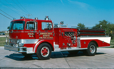 DOWNERS GROVE ESTATES FPD ENGINE 375   DELIVERED ALL RED