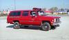 GLENSIDE  CAR 702  1987 GMC SUBURBAN   REPAINTED RED