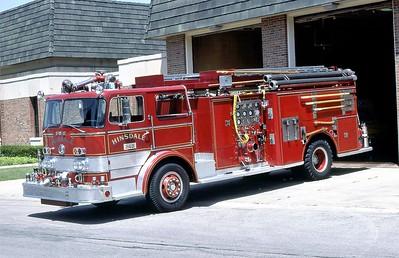 HINSDALE FD  ENGINE 343  1966 FWD - PIERCE   1000-500   #8213-A