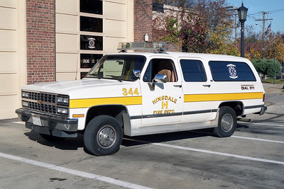 HINSDALE FD  CAR 344  1991  CHEVY SUBURBAN 1500 4X4