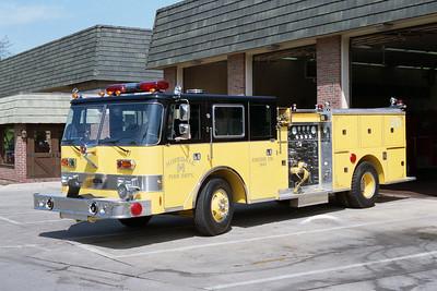 HINSDALE FD  ENGINE 341  1988  PIERCE ARROW   1250-500     REHABBED