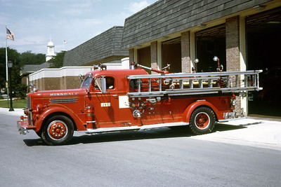 HINSDALE FD  ENGINE 341  1948  PIRSCH   750-    #1793   JDS PHOTO