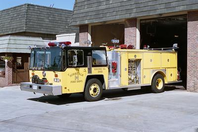 HINSDALE FD  ENGINE 343  1982  HENDRICKSON - E-ONE   1250-500   #2228