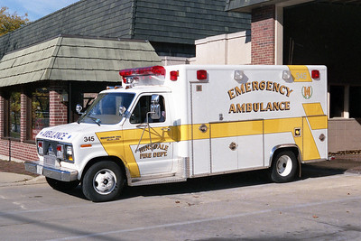 HINSDALE FD  AMBULANCE 345  1987  FORD E350 - EXCELLANCE