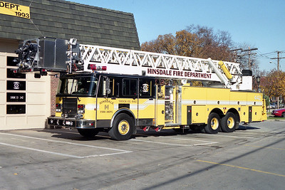 HINSDALE FD  TRUCK 442  1990 SPARTAN - LTI  1500-150-100'  # 8905321   FRONT RAMP