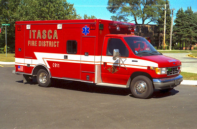 ITASCA FPD AMB.831 FORD E-350 / ROAD RESCUE  X-LOCKPORT FPD