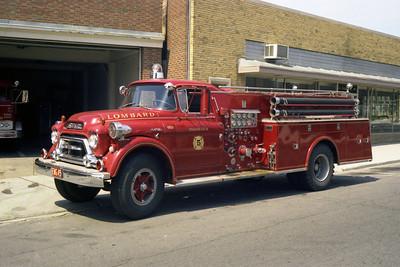 ENGINE 45  1959 GMC 550 - DARLEY  750 - 750