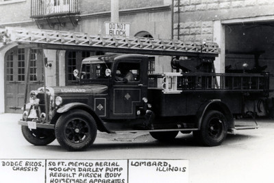 EARLY LADDER TRUCK