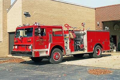 ROSELLE FPD  ENGINE  R-11  1977  HENDRICKSON 1871 - PIERCE   1250-750   # 9458-C1