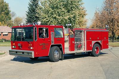 ROSELLE FPD  ENGINE R-2  1982  HENDRICKSON - E-ONE   1500-750   1995  RPI 4 DOOR ENCLOSURE