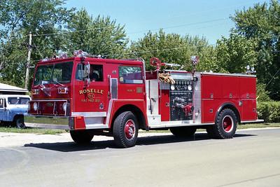 ROSELLE FPD  ENGINE R-12  1977  HENDRICKSON 1871 - PIERCE   1250-750   # 9458-C3
