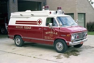 ROSELLE FPD  AMBULANCE R-6  1975  CHEVY VANDURA   PASSENGER SIDE