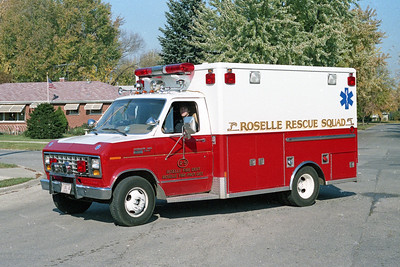 ROSELLE FPD  AMBULANCE R-9  1985  FORD E350 - WHEELED COACH
