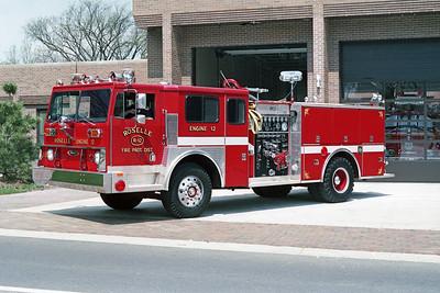 ROSELLE FPD  ENGINE R-12  1977  HENDRICKSON 1871 - PIERCE  1250-750   # 9458-C2   1989 RPI 4 DOOR ENCLOSURE