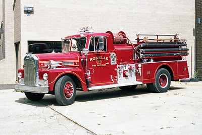 ROSELLE FPD  ENGINE R-4  1956  WLF FIREBALL   750-500   # 3970