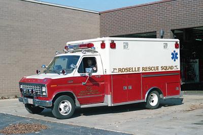 ROSELLE FD  AMBULANCE R-6  1981  FORD E350 - MOBILE MED