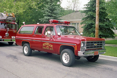 ROSELLE FPD  CAR R-1  1979  CHEVY SUBURBAN 4X4