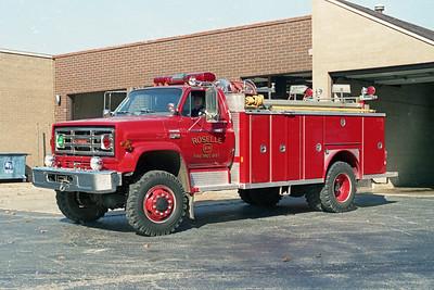 ROSELLE FPD  SQUAD R-14  1980  GMC 4X4 - E-ONE   250-1500   # 1515   PRE STRIPE