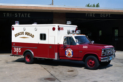 TRI STATE FPD  AMBULANCE 385 FORD F RED