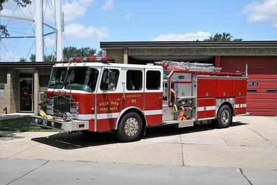 VILLA PARK FD   ENGINE 82  1998 E-ONE CYCLONE II  1250-750  # 18706