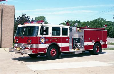 VILLA PARK FD   ENGINE 961   1989 PIERCE ARROW  1500-750   E-5173