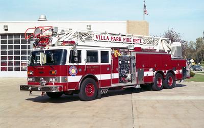 VILLA PARK FD   TRUCK 971   1991 PIERCE ARROW   1500-300-105'   E-6241