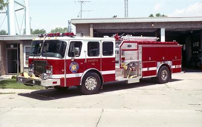 VILLA PARK FD   ENGINE 962   1998 E-ONE CYCLONE II  1250-750  # 18706