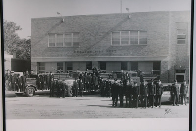 WHEATON GROUP SHOT IN FRONT OF OLD STATION 1