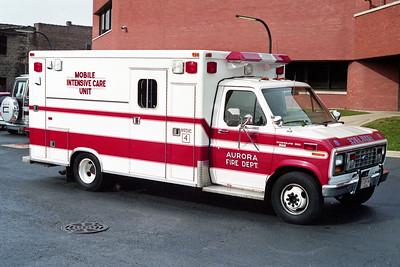 AURORA FD  MEDIC 4  1984  FORD E350 - McCOY MILLER   REPAINTED