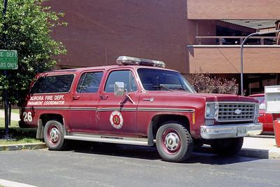 AURORA FD  CAR 26  1981  CHEVY SUBURBAN