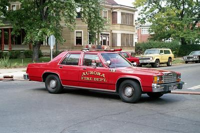 AURORA FD  CAR 15  1985  FORD LTD   ASSISTANT CHIEF