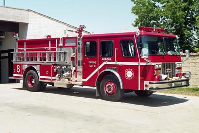 AURORA FD  ENGINE 8  1992  E-ONE HURRICANE   1500-750-50   #9415   OFFICERS SIDE