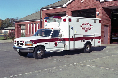 AURORA FD  CAR 20  1993 FORD F250 - WHEELED COACH    FIRE INVESTIGATION UNIT