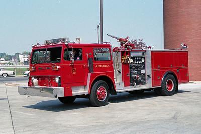 AURORA FD  ENGINE 1  1975  HENDRICKSON 1871 - PIERCE   1250-750   #8493-C