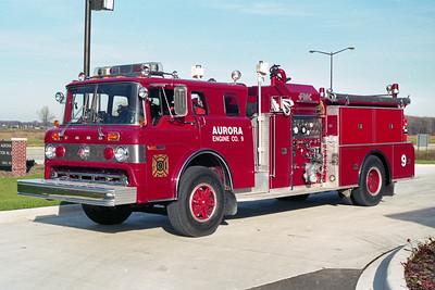 AURORA FD  ENGINE 9  1978  FORD C8000 - FMC   1250-1250   X- MARYWOODS FPD