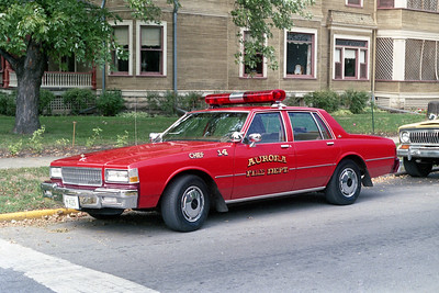 AURORA FD  CAR 14  1988  CHEVY CAPRICE   FIRE CHIEF